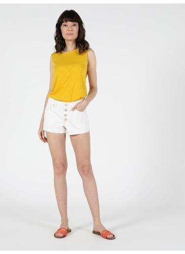 Colin's Orta Bel Kisa Slim Fit Jean Kadın Jean Şort Lacivert